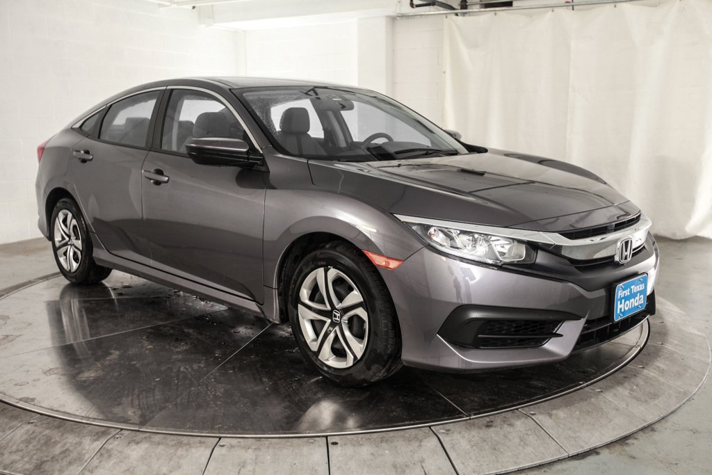 Certified pre owned 2017 honda civic 4d sedan lx in austin for Honda used certified